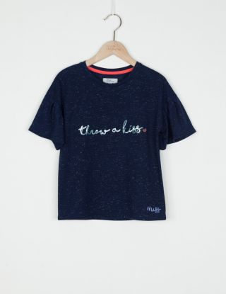 BRIAN AND NEPHEW T-shirt - Blauw