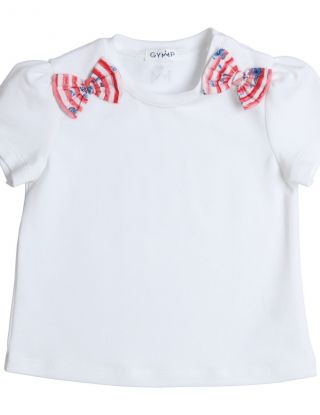 GYMP T-shirt bow - Wit