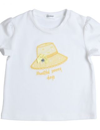 GYMP T-shirt embroidery - Wit