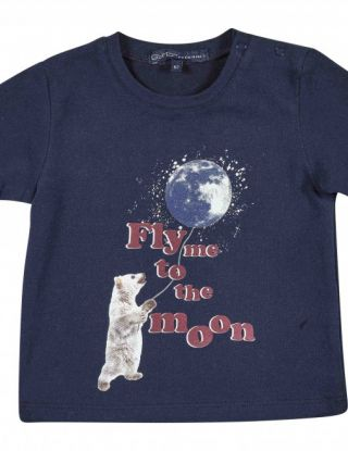 GYMP T-shirt FLY ME TO THE MOON - Blauw