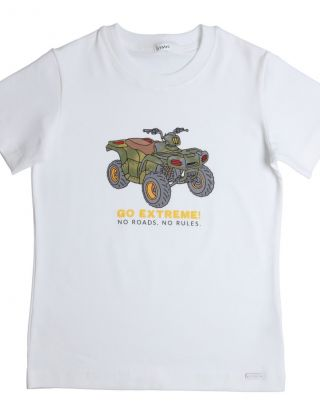 GYMP T-shirt Go Extreme - Wit