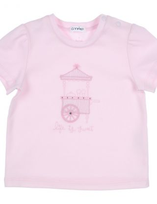 GYMP T-shirt LIfe is sweet - Roze