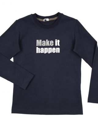 GYMP T-shirt MAKE IT HAPPEN - Blauw