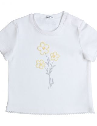 GYMP T-shirt print flowers - Wit