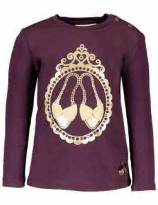 LE CHIC T-shirt shoesin a mirror - Bordeaux