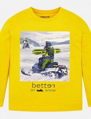 MAYORAL T-shirt Better on Snow - Geel