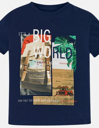 MAYORAL T-shirt big world - Blauw
