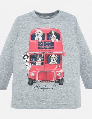 MAYORAL T-shirt Bus - Grijs