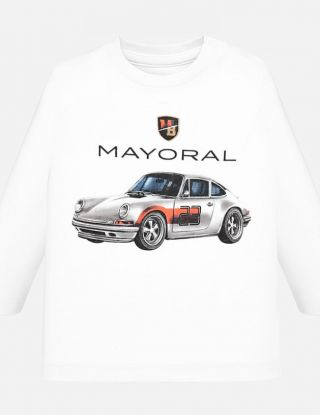 MAYORAL T-shirt CAR - Wit