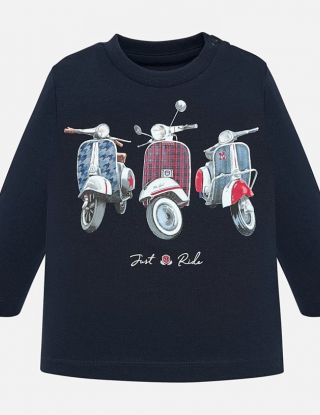 MAYORAL T-shirt JUST RIDE - Blauw