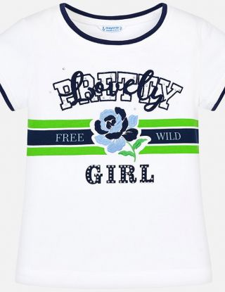 MAYORAL T-shirt Lovely - Wit