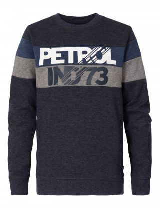 PETROL Sweater R-neck - Blauw