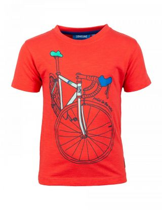 SOMEONE T-shirt fiets - Rood