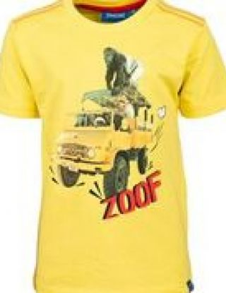 SOMEONE T-shirt zoof - Geel