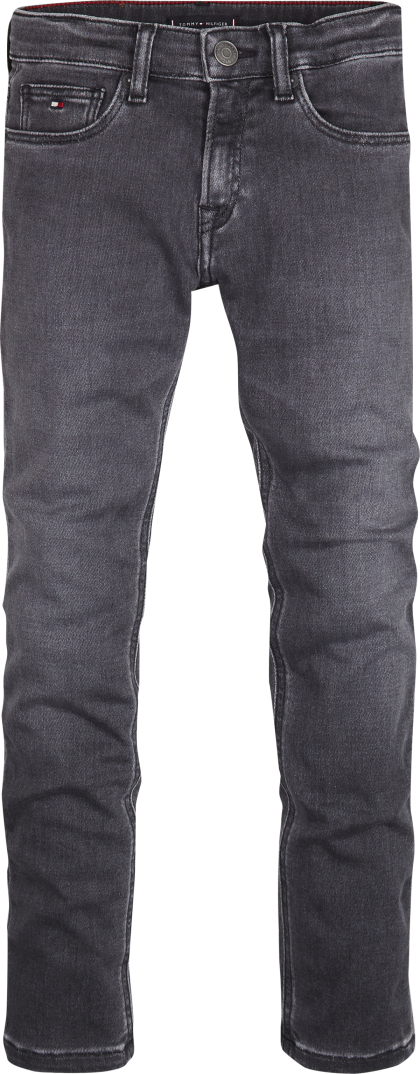 TOMMY HILFIGER Broek black grey stretch - Grijs