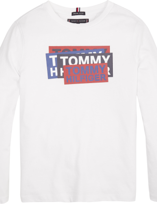 TOMMY HILFIGER T-shirt sticker - Wit